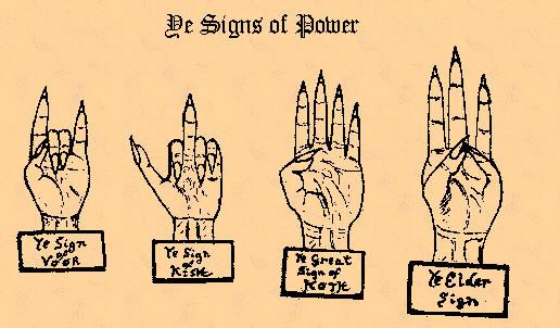 Знаки силы описанные в некрономиконе